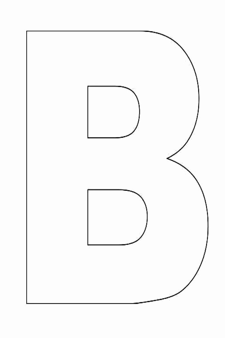 Letter Outline Template Unique Alphabet Letter B Template for Kids