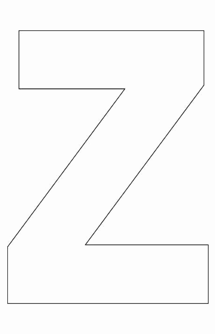Letter Outline Template Unique My Father S World K Z is for Zebra Alphabet Letter Z