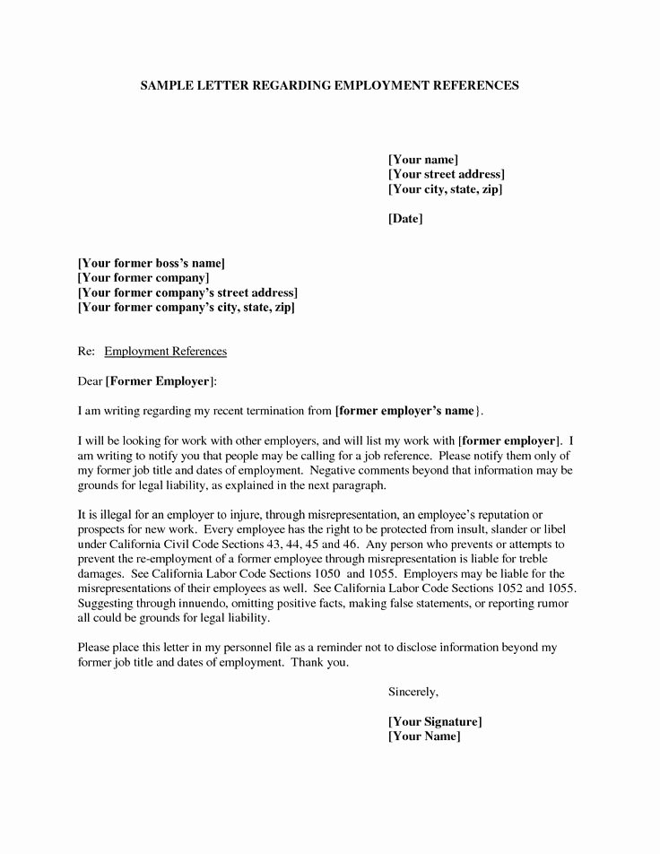 Letter Requesting Letter Of Recommendation Unique Examples Reference Letters Employmentexamples Of
