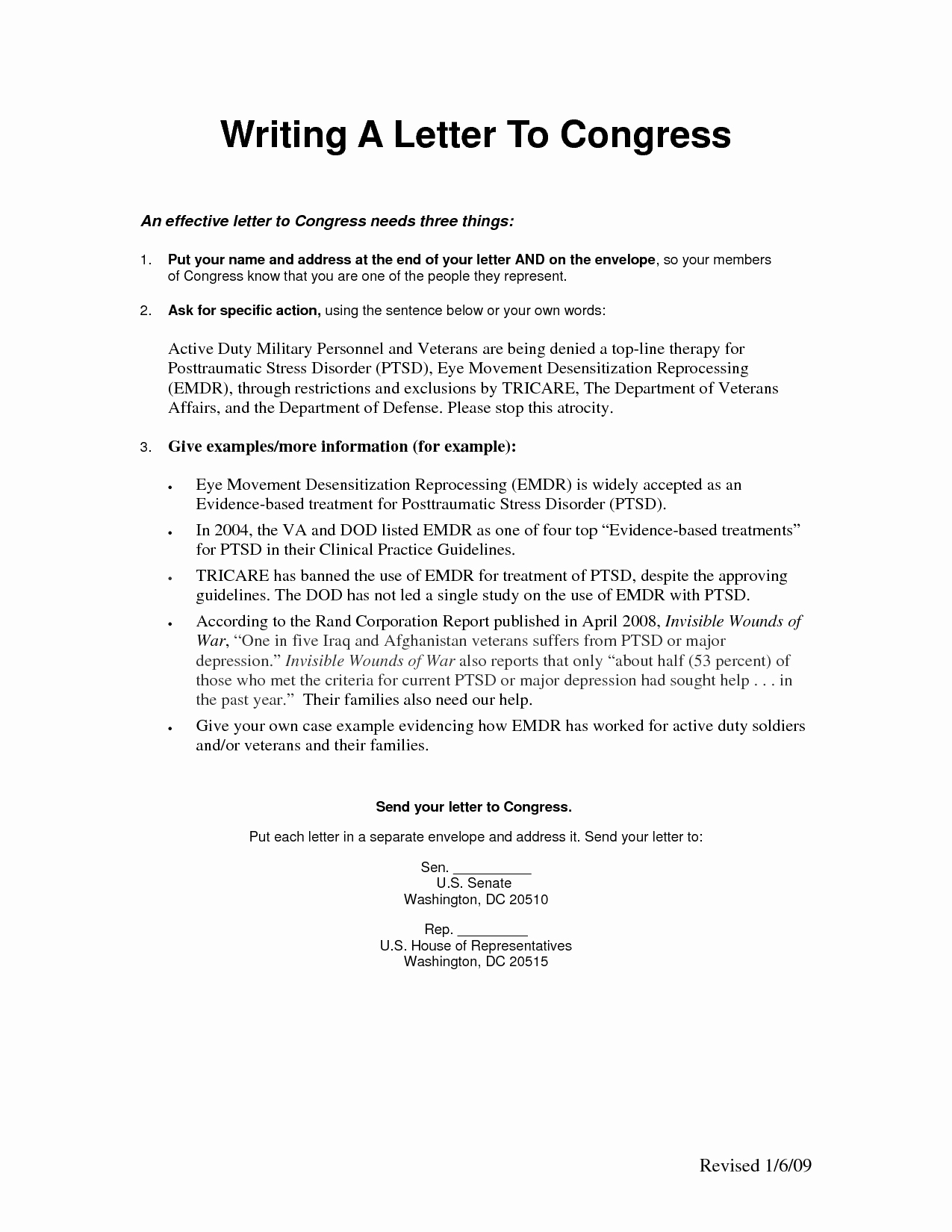 Letter to Congress format Awesome Sample Letter to A Congressman Viewletter Co