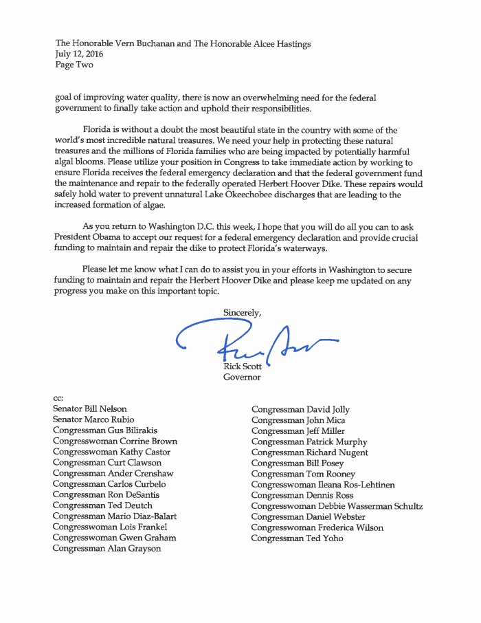 Letter to Congress format New Gwen Graham Fires Back at Rick Scott Calls for Special