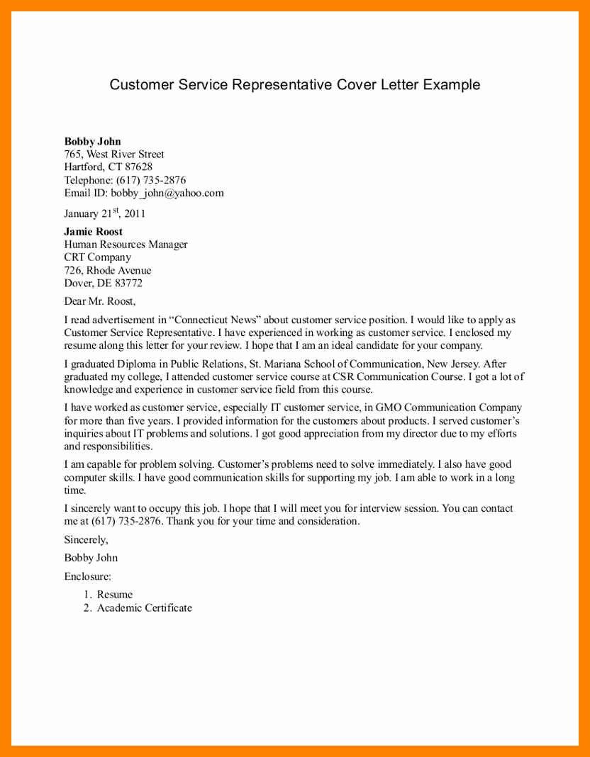 Letter to Congressman format Inspirational 9 Application Letter for Customer Service Agent