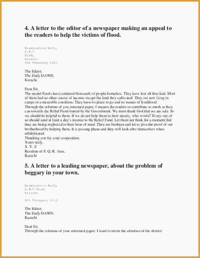 Letter to Editors format Awesome Letters to Editor format – thepizzashop