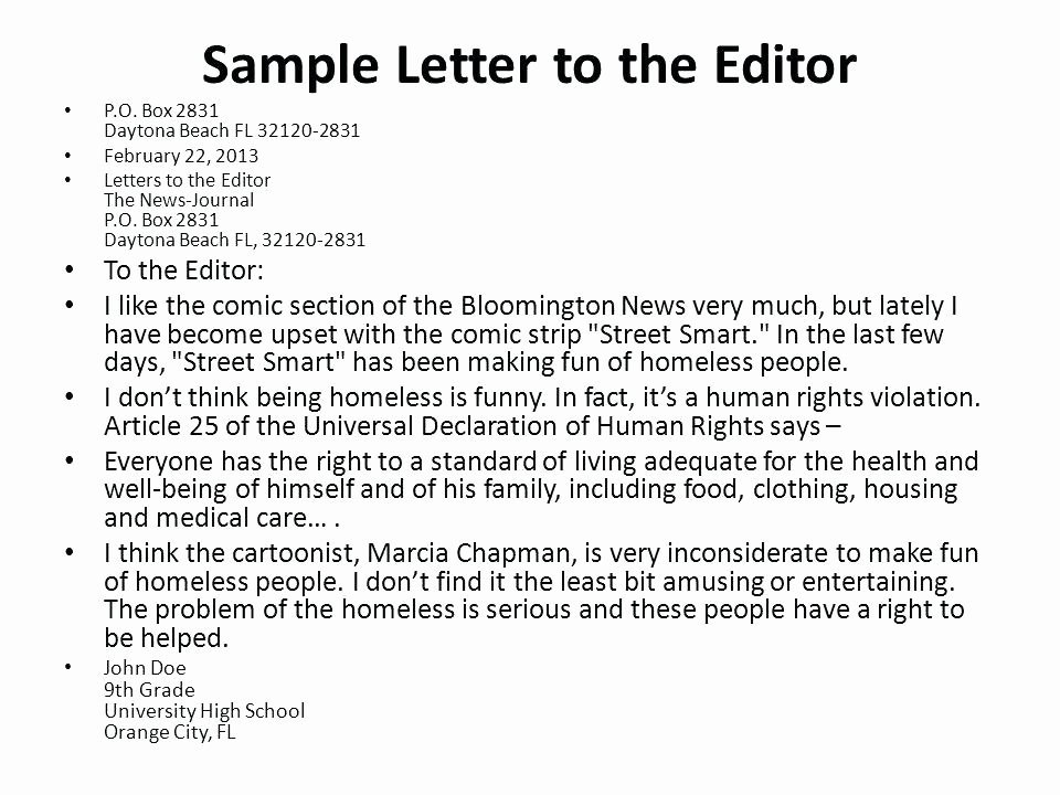 Letter to Editors format Beautiful How to Write A Letter to the Editor