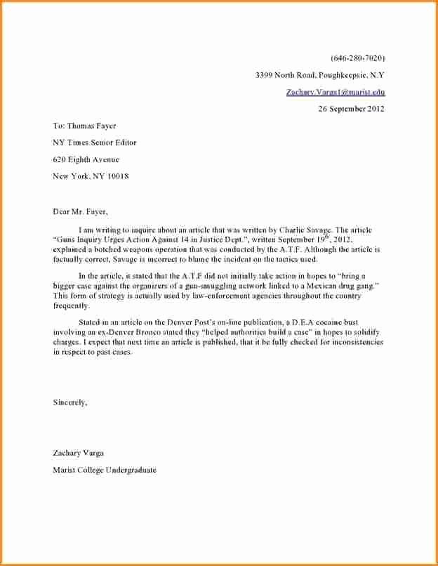 Letter to Editors format Elegant Image Result for Letter to Editor format
