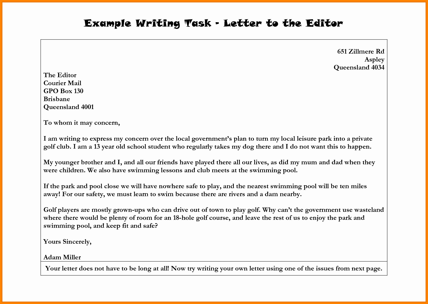 Letter to Editors format Luxury 7 Editor Letter format Example