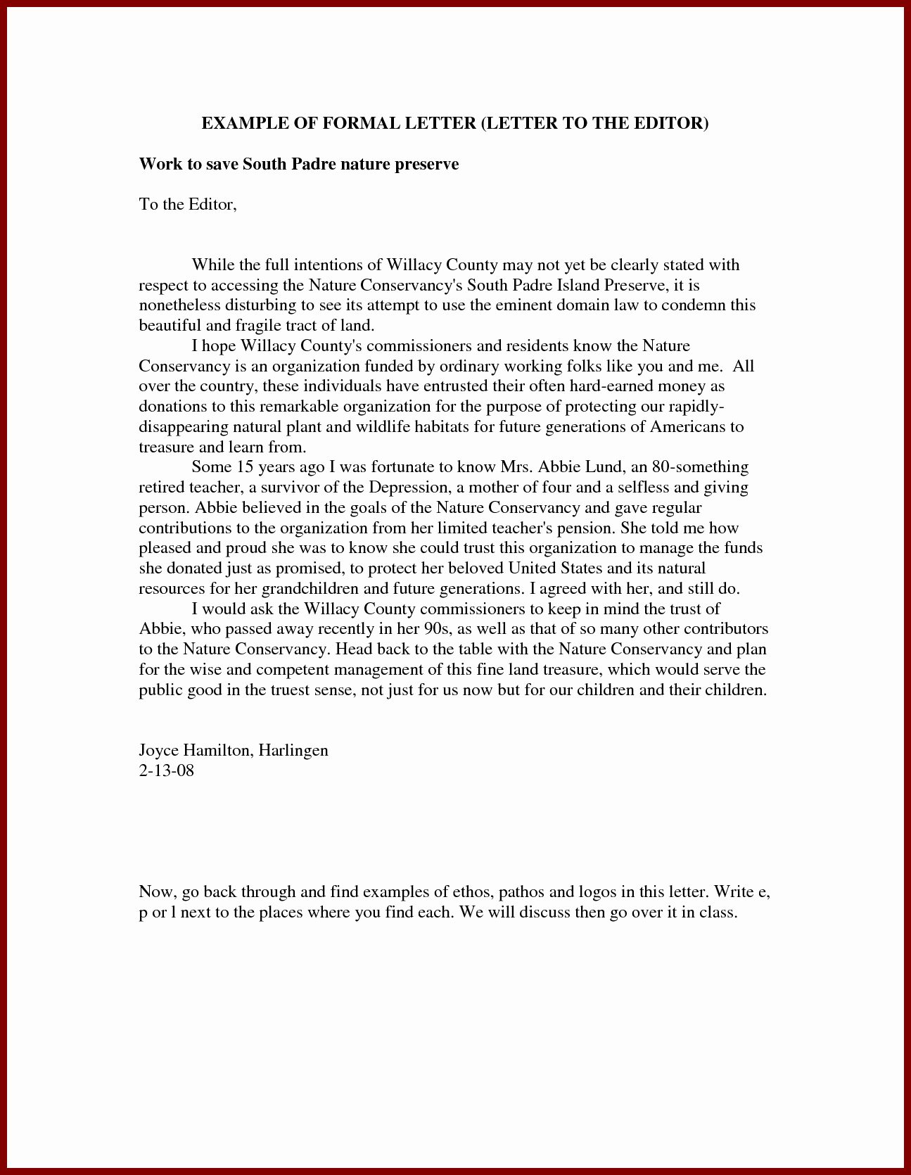 Letter to Editors format Unique formal Letter to Editor Of Newspaper About Pollution