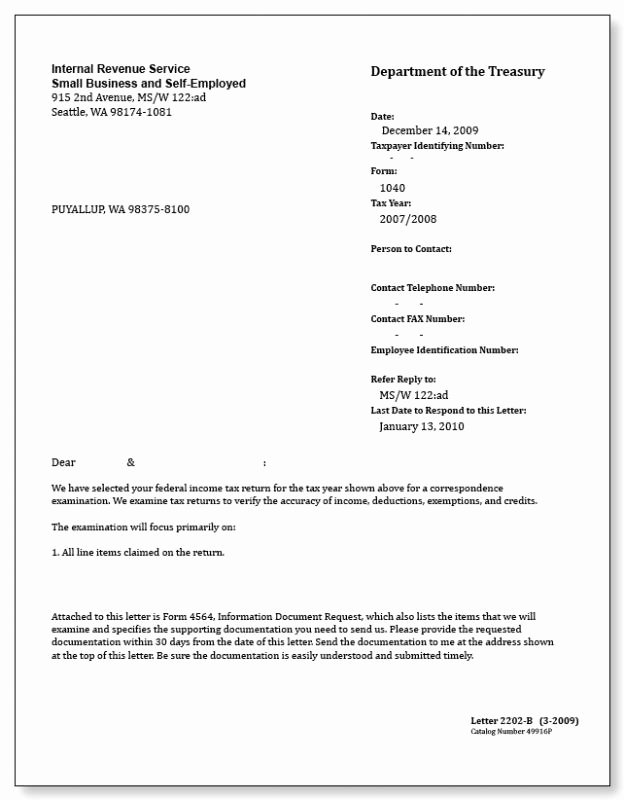 Letter to Irs format Beautiful Irs Letter Template