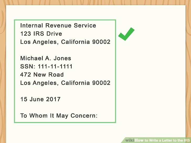Letter to Irs format Unique 3 Ways to Write A Letter to the Irs Wikihow