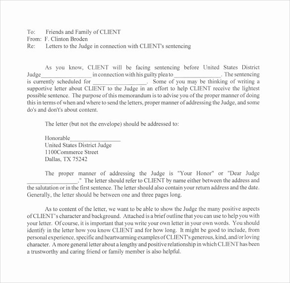 Letter to Judge format Best Of 11 Character Letter Templates for Court Pdf Word