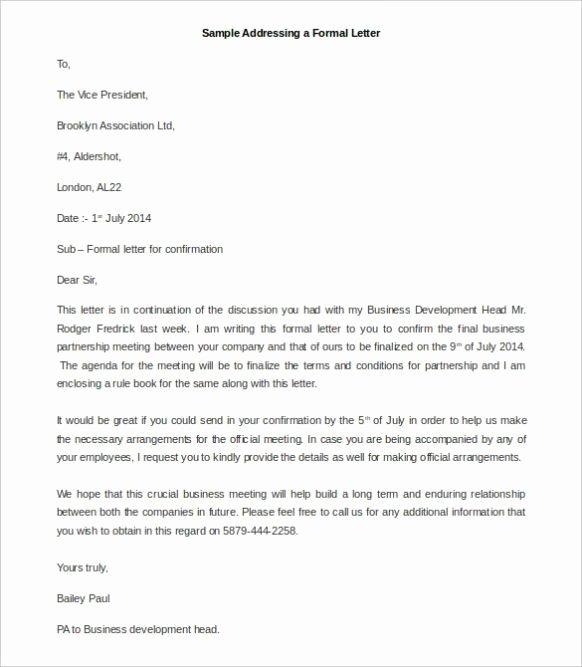 Letter to President format Elegant formal Letter format to President