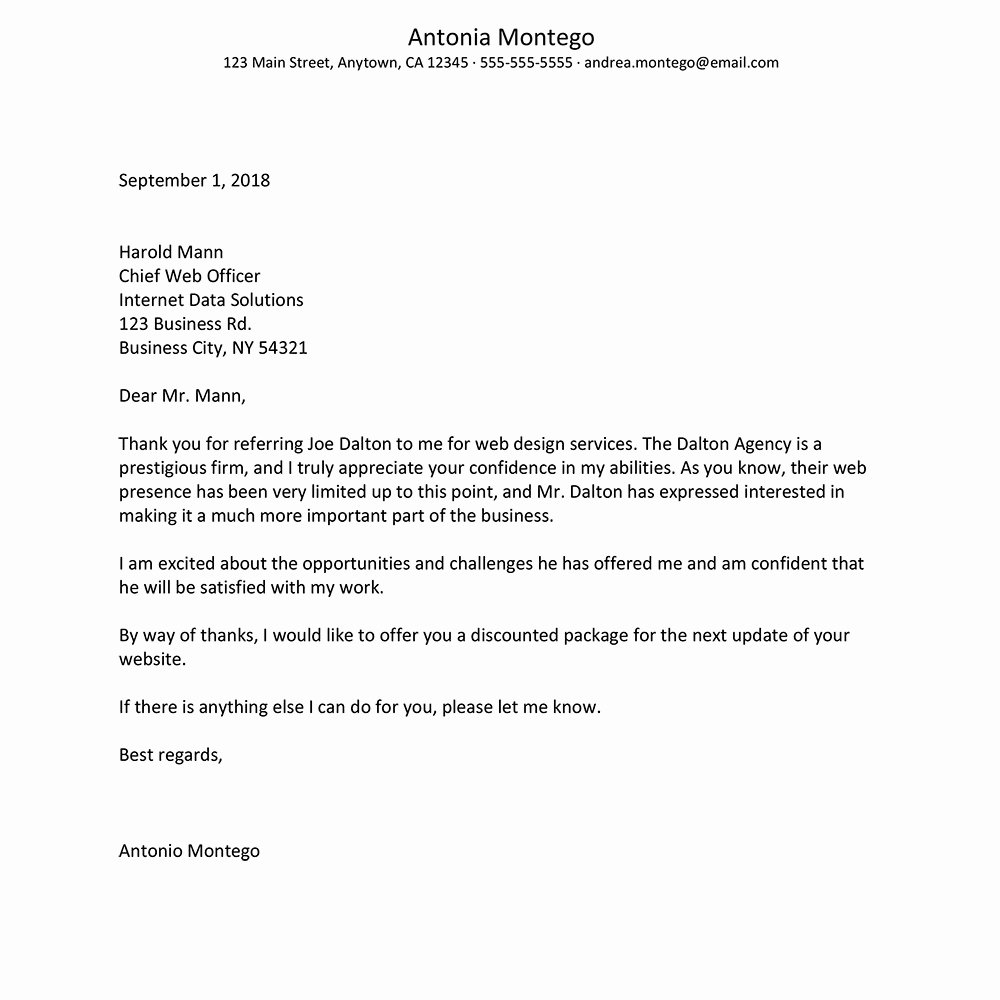 Letter to Referring Physician Inspirational 9 Thank You Letter to Referring Physician Template