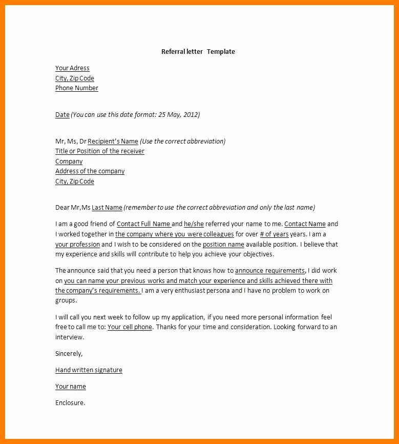 Letter to Referring Physician Template Elegant 14 15 Referral Letter to Specialist Example