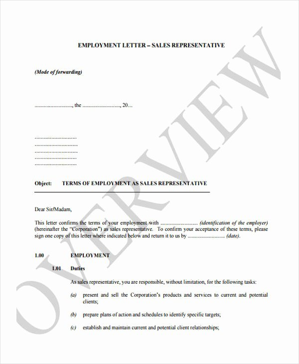 Letter to Representative format Awesome 25 Job Fer Letter Example
