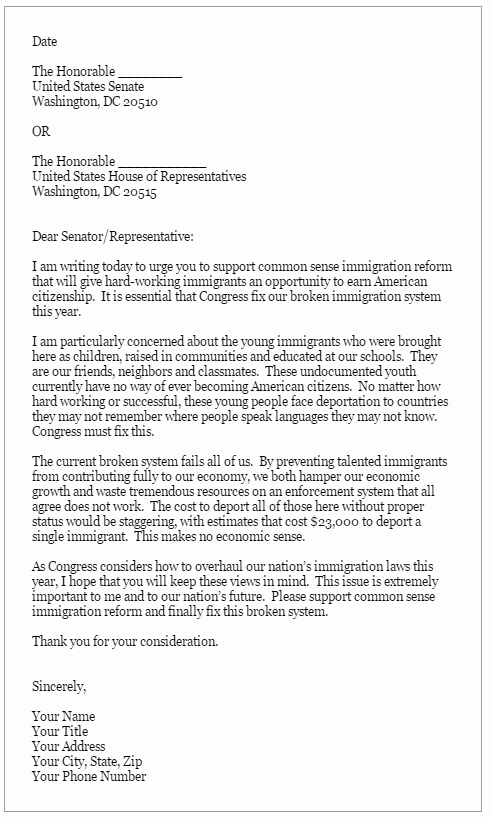 Letter to Representative format New Take Action Long island Wins
