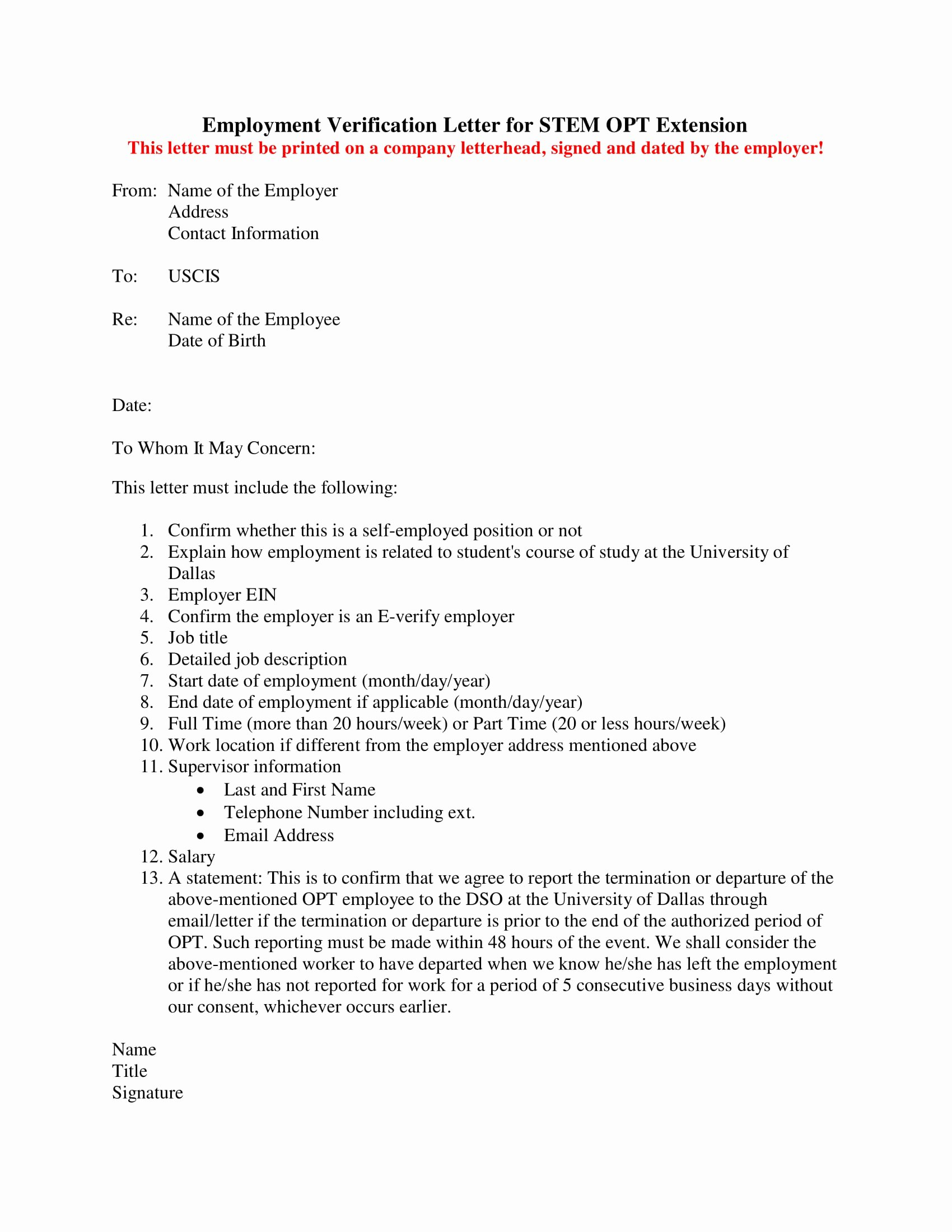 Letter to Uscis format Unique 14 Employment Verification Letter Examples Pdf Doc