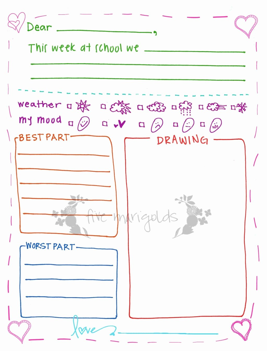 Letter Writing format for Students Beautiful Free Printable Letter Writing Templates for Grandma Pen