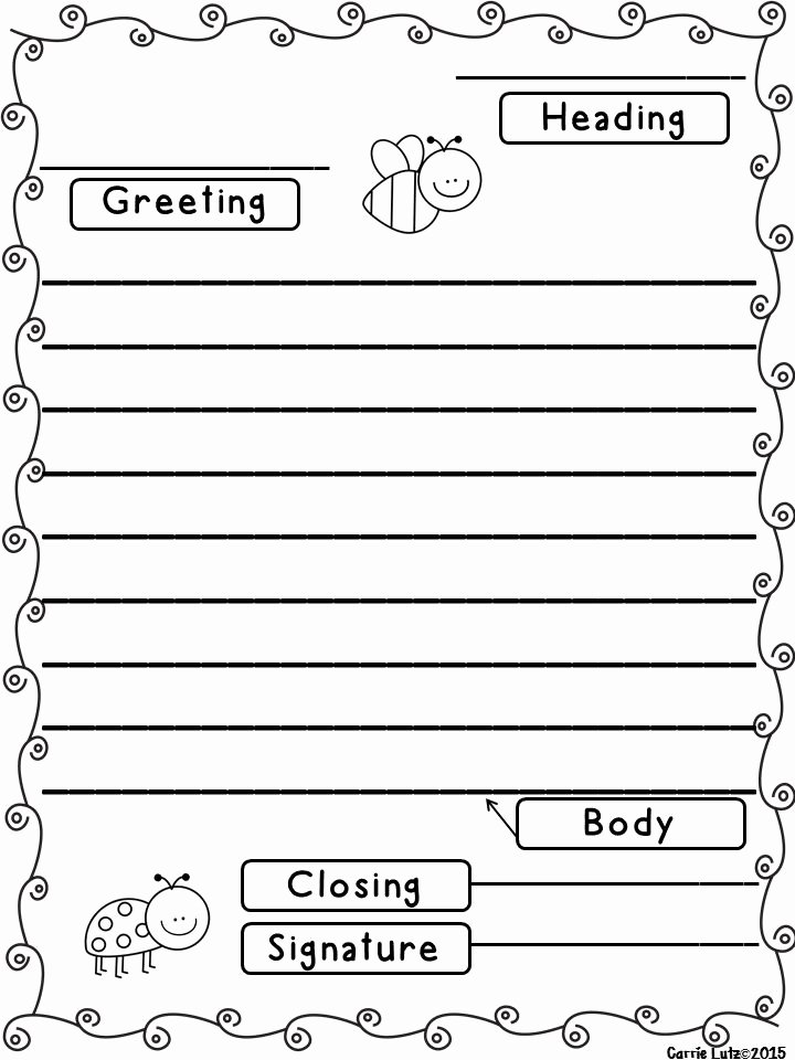 Letter Writing format for Students Beautiful Friendly Letter with Envelope with the 5 Parts Of A
