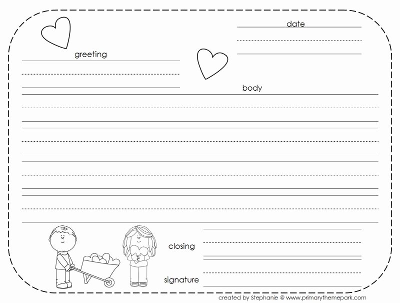 Letter Writing format for Students Elegant How to Write A Friendly Letter Free Printables