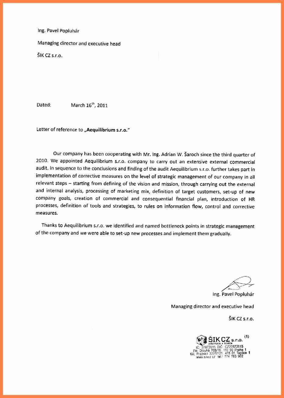 Letterhead for Letter Of Recommendation Fresh 11 Letter Of Re Mendation Pany
