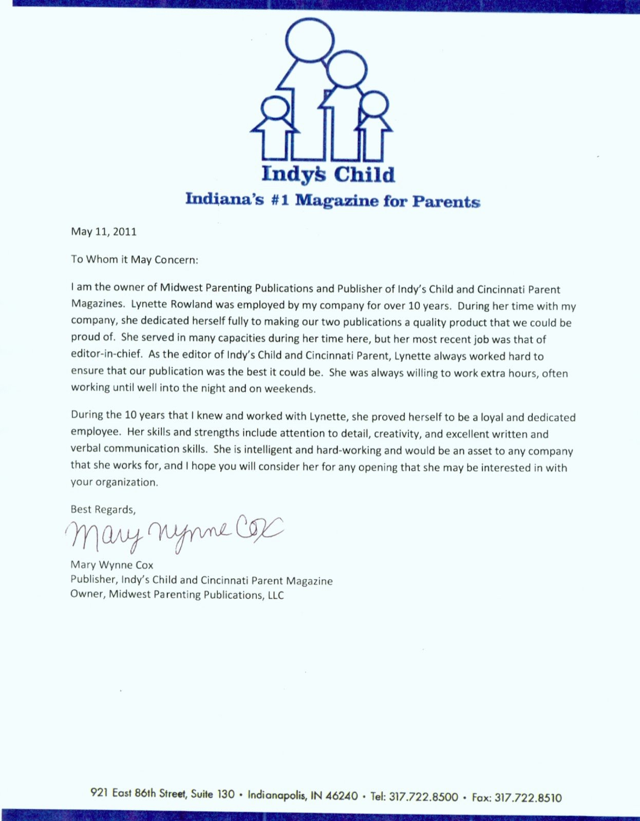 Letterhead for Letter Of Recommendation Luxury Letters Of Re Mendation Lynette Rowland