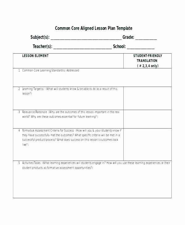 Library Lesson Plan Template Elegant Library Lesson Plan Template Mon Core 5th Grade Lesson