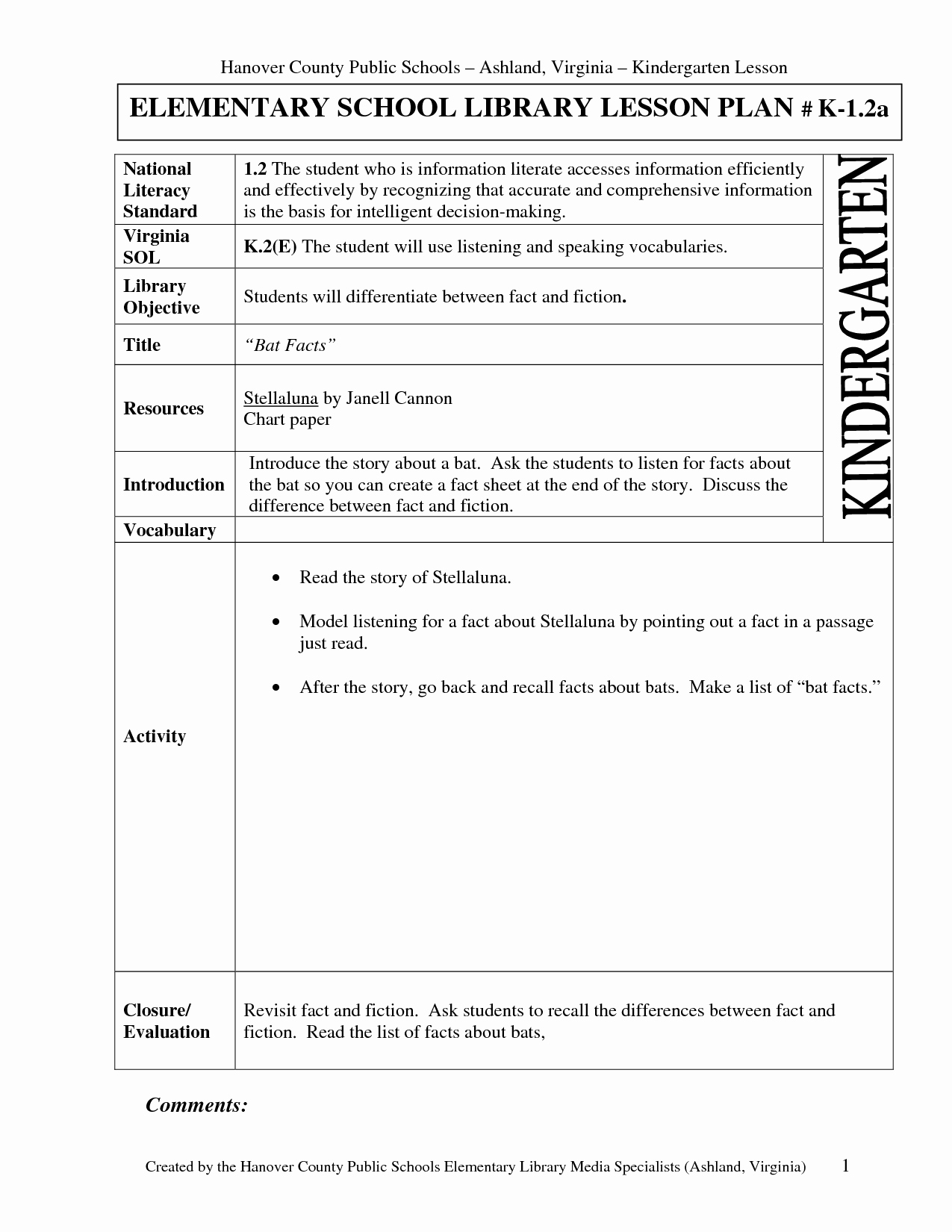 Library Lesson Plan Template Inspirational 9 Best Of Lesson Plan Examples Elementary School