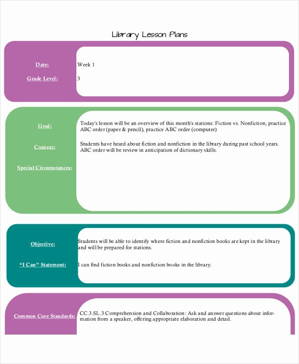 Library Lesson Plan Template New 40 Lesson Plan Templates