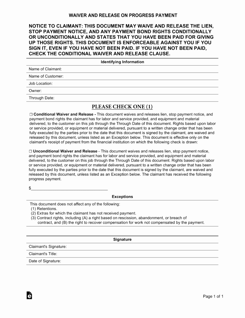 Lien Release Letter Template Luxury Free Real Estate Lien Release forms Pdf