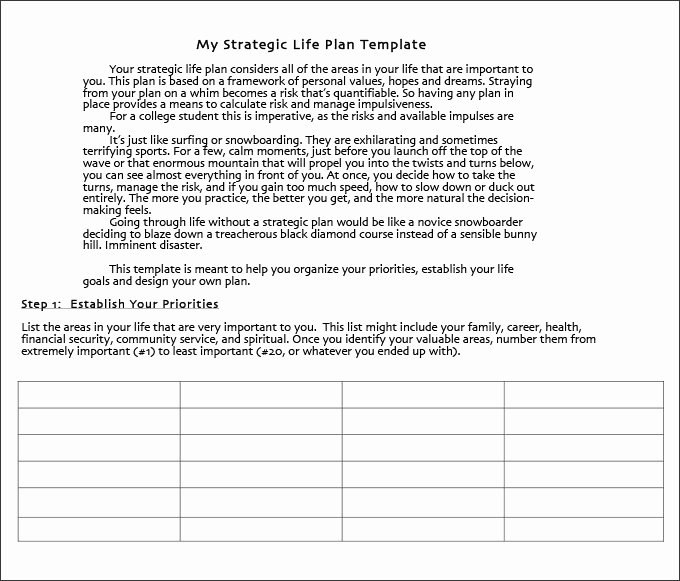 Life Plan Template Free Awesome Life Plan Template 4 Free Word Pdf Documents Download