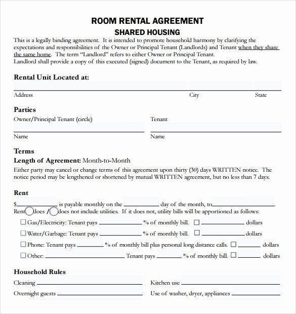 Living Agreement Contract Beautiful 9 Rental Agreement Templates