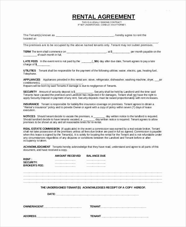 Living Agreement Contract Fresh 8 Apartment Rental Contract Templates Docs Pages
