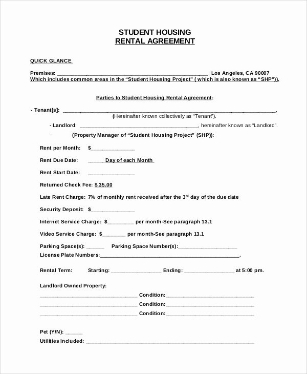 Living Agreement Contract Template Awesome Sample House Rental Agreement 19 Examples In Pdf Word