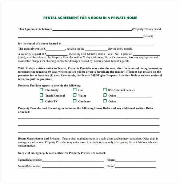 Living Agreement Contract Template Fresh 7 Sample Home Rental Agreement Templates