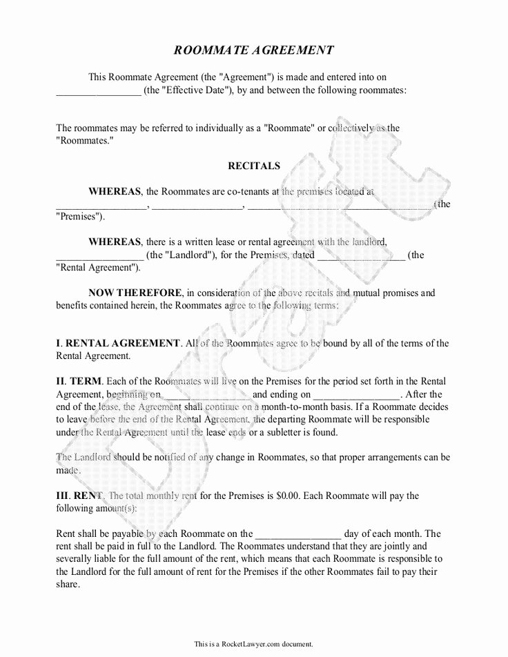 Living Agreement Template Beautiful Best 25 Roommate Agreement Ideas On Pinterest