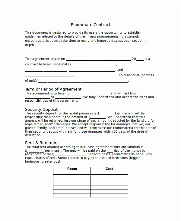 Living Agreement Template Elegant Living Agreement Contract Template