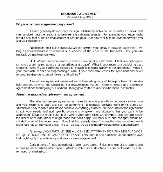 Living Agreement Template Fresh Cohabitation Contract Template Relationship N Sample