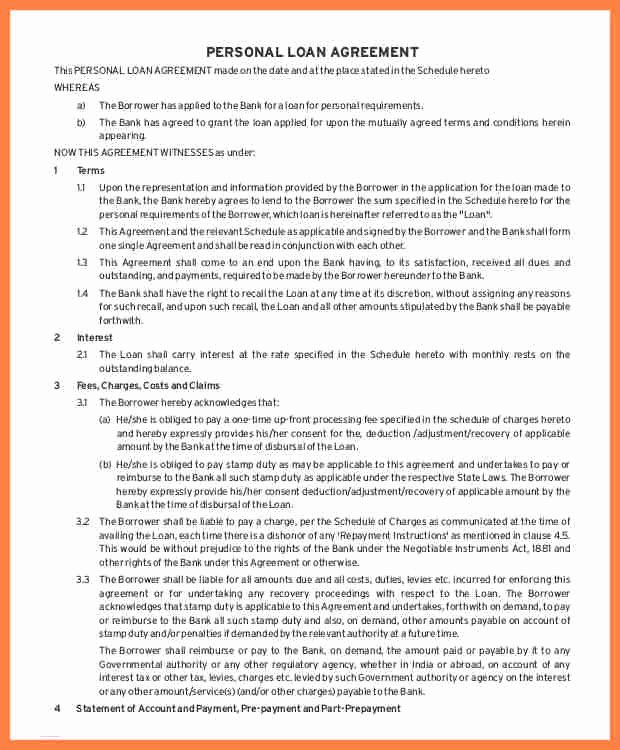 Llc Member Loan Agreement Best Of 7 Inter Pany Loan Agreement Sample