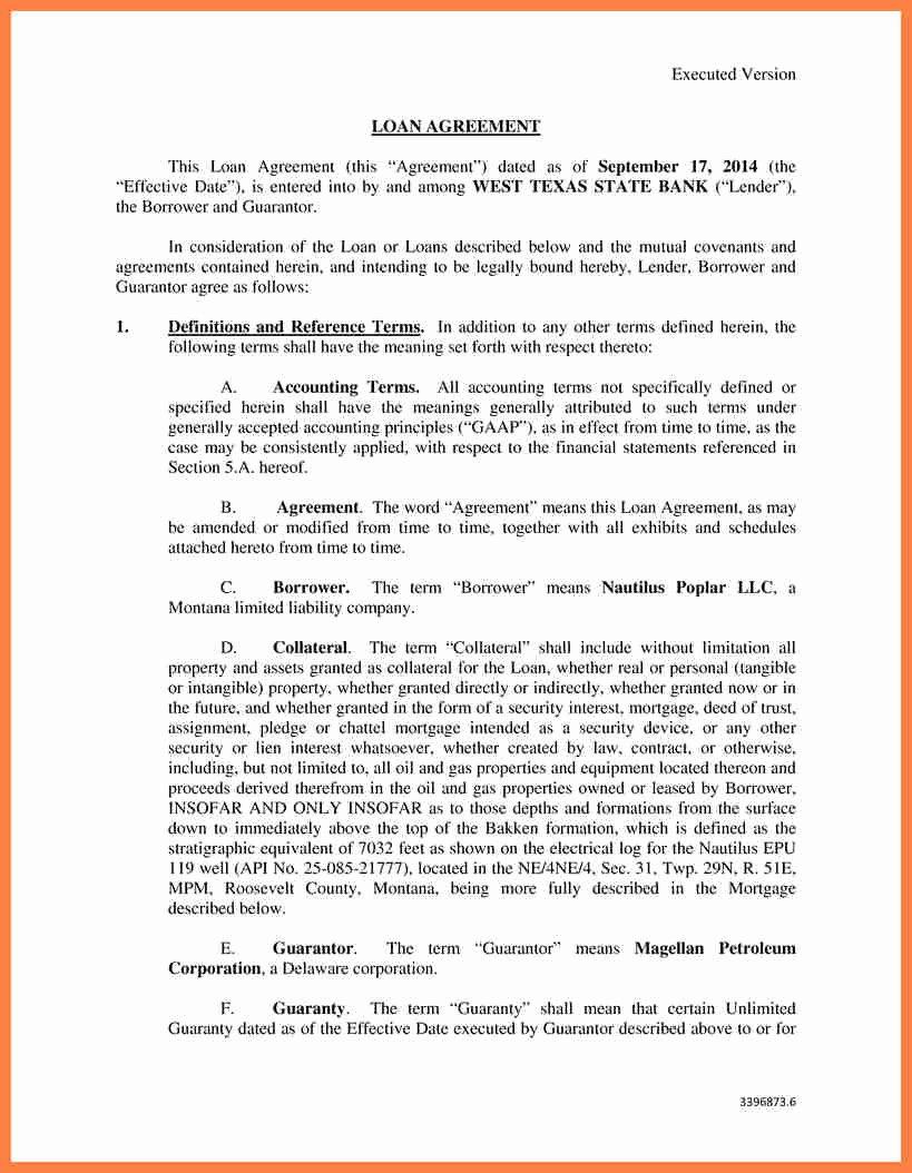 Llc Member Loan Agreement Fresh 6 Sample Inter Pany Loan Agreement