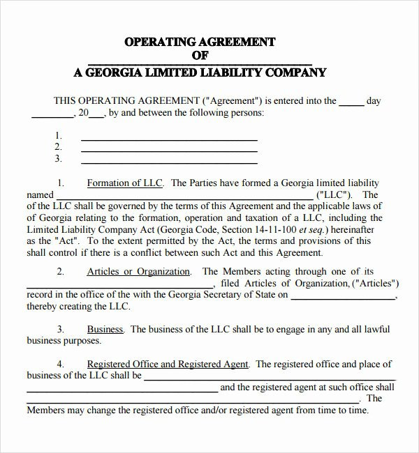Llc Member Loan Agreement Lovely Operating Agreement 7 Free Pdf Doc Download