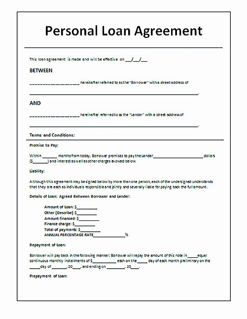 Llc Member Loan Agreement Unique Download Loan Contract Template with Crucial Details to Note