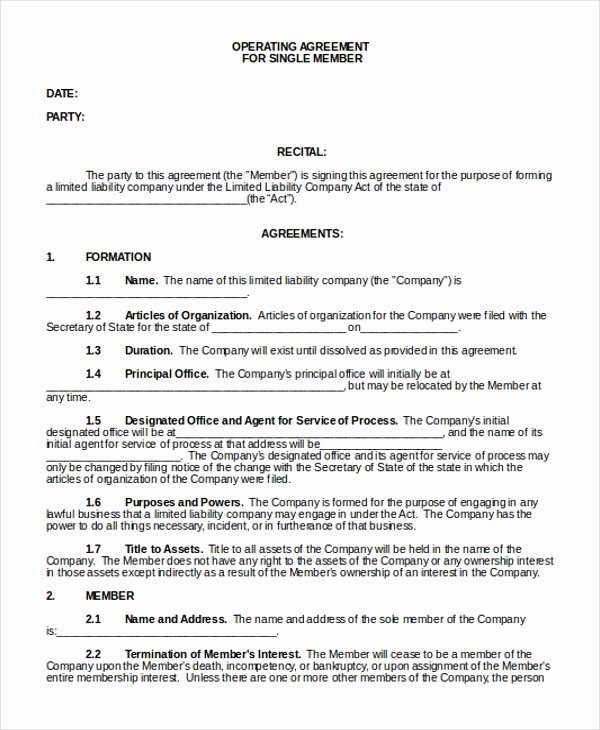Llc Ownership Transfer Agreement Template Beautiful Sample Operating Agreement form 10 Free Documents In