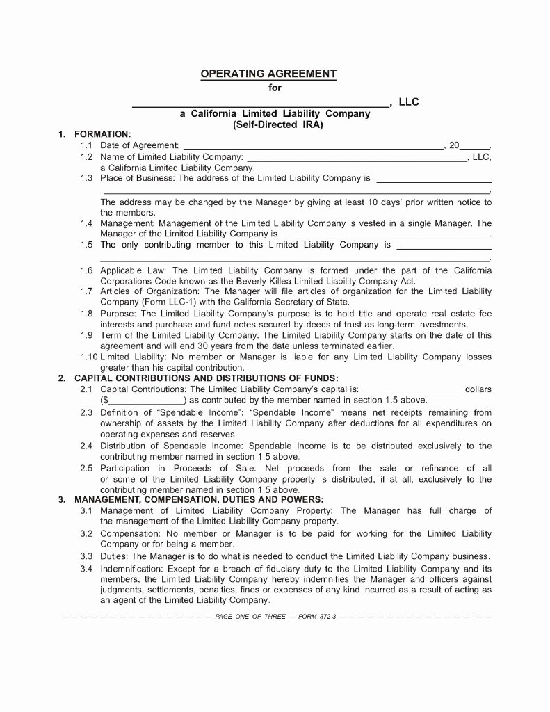 Llc Ownership Transfer Agreement Template Best Of the Sdira Llc Operating Agreement – Boilerplate for Your
