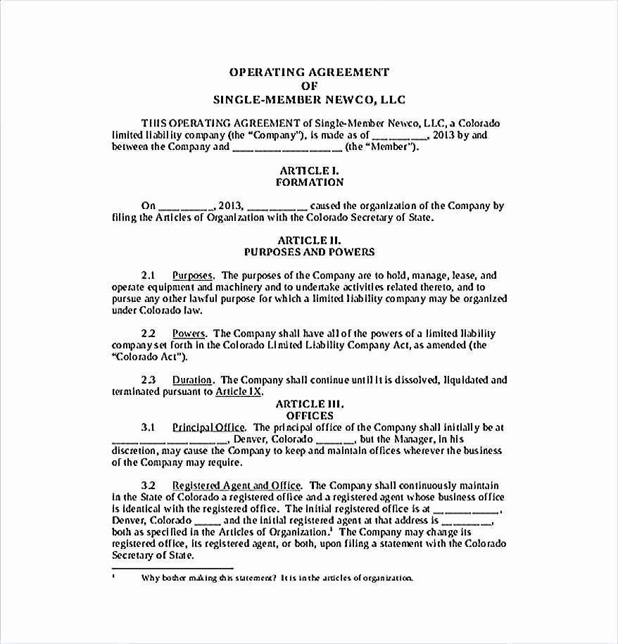 Llc Ownership Transfer Agreement Template Inspirational Elegant Free Operating Agreement Template for Single