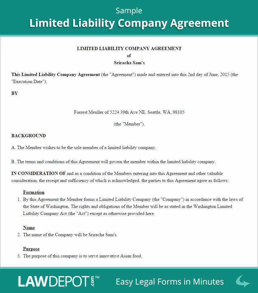 Llc Transfer Of Ownership Agreement Sample Awesome Llc Operating Agreement Template Us