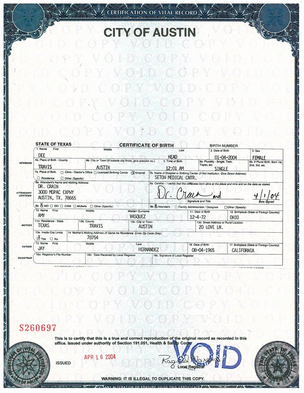 Long form Birth Certificate Sample Awesome Birth and Death Certificates