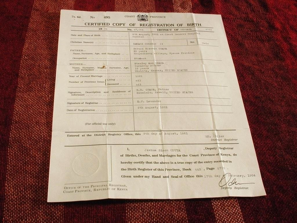 Long form Birth Certificate Sample Elegant Third Obama Birth Certificate Appears In Court