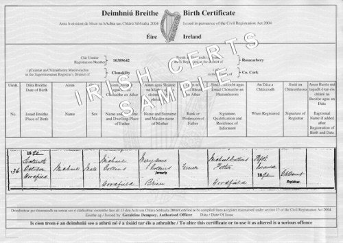 Long form Birth Certificate Sample Inspirational What Does An Irish Birth Certificate Look Like Blurtit