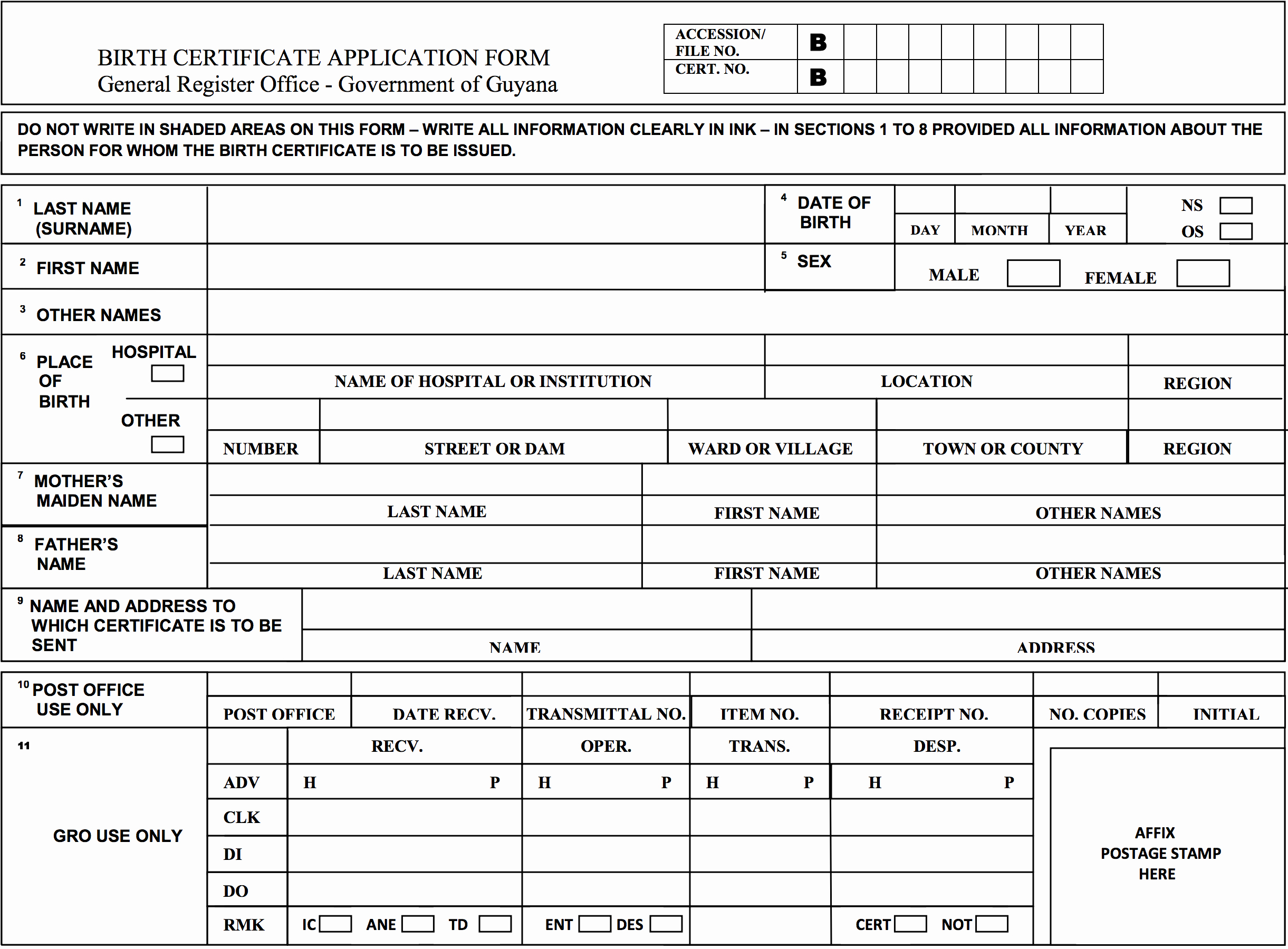 Long form Birth Certificate Sample Luxury How to Get Your Guyana Birth Certificate