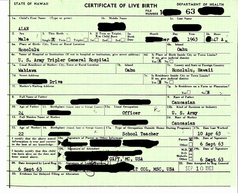 Long form Birth Certificate Sample Luxury the Long form – Reconstructed
